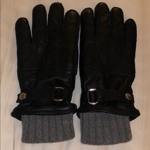Leather COACH gloves. TWO IN ONE!
